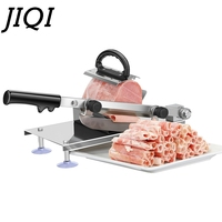 JIQI Commercial household manual lamb beef slicer meatloaf frozen meat cutting machine Vegetable Mutton rolls hand mincer cutter