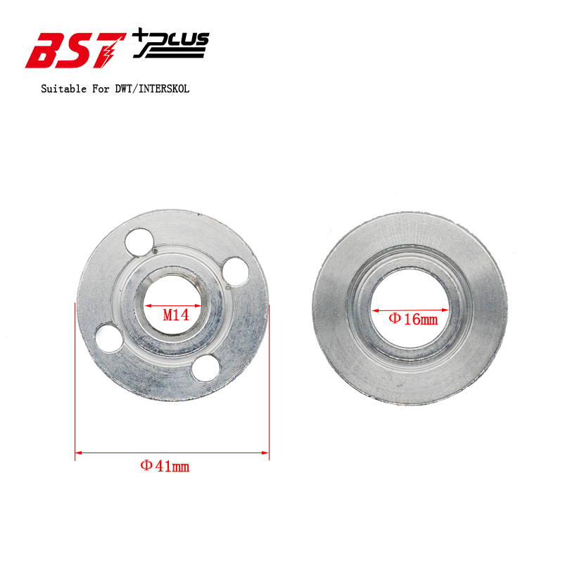 FREE SHIPPING!!! M14 2PCS/Set  Replacement Part Inner Outer Flange Set Fits For DWT/INTERSKOL Angle Grinder ,HIGH QUALITY