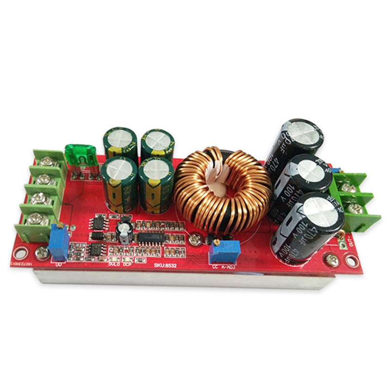 1200W Boost Module 20A DC DC step up Converter Boost Power supply Module 8V-60v TO 8V-80V Booster converter board