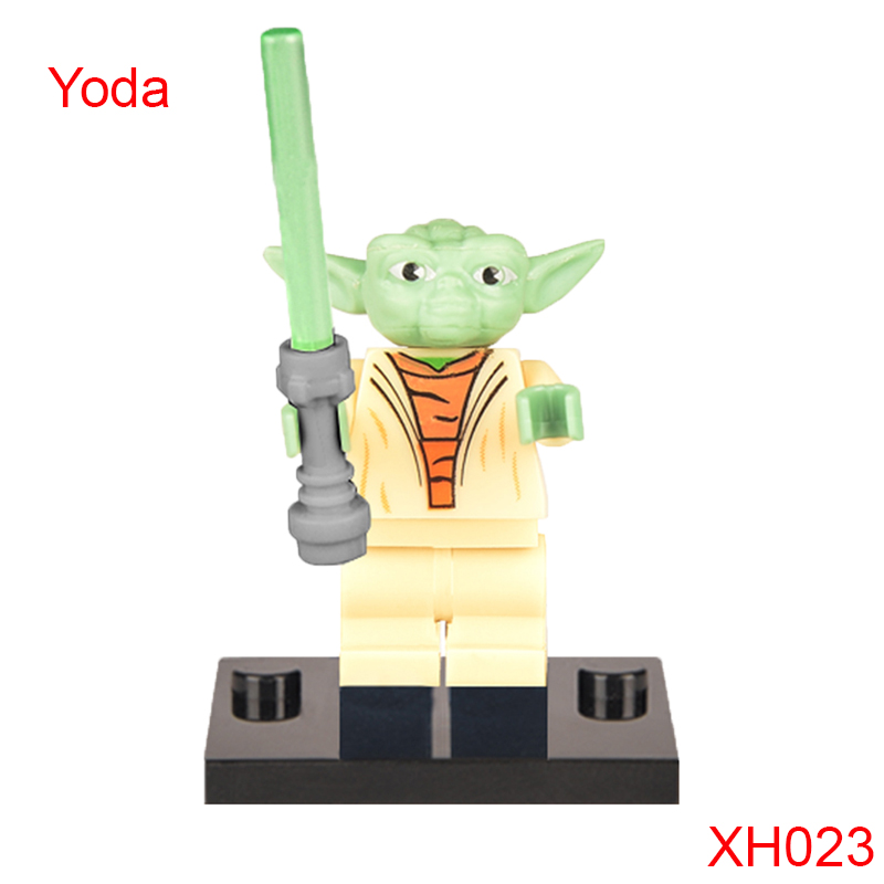 Classic Yoda Green-Bladed Lightsaber Building Block Star Wars Iii: The Clone Wars Super Heroes Figures For Children Xh023