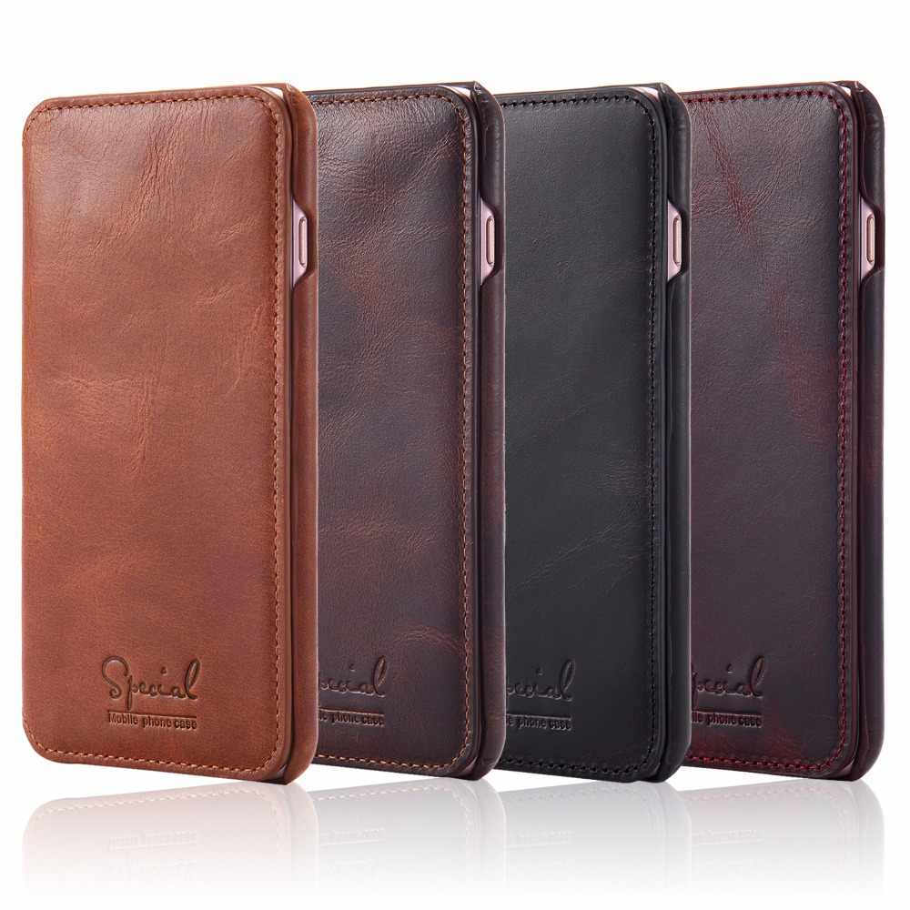 レトロな高級本革ケース iphone 7 8 6 6S プラス財布フリップカードホルダーケースのための iphone × XS 最大手作り Coque