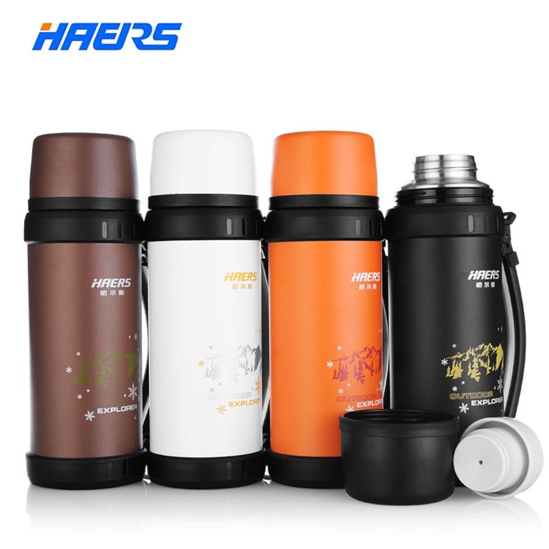 Haers Marke Thermos 1.1L Edelstahl Isolierte Thermosflasche Im Freien Sport Trinken Wasserflasche Vakuumflasche