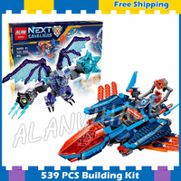 529pcs New Knights Clay's Falcon Fighter Blaster 10596 DIY Model Building Blocks Asssemble Gifts sets Nexus Compatible with Lego