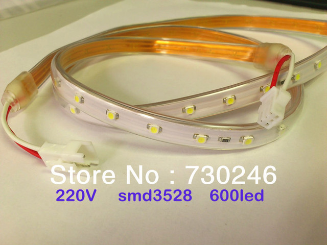 new unique safe lights hot sale 220v home decoration recycle smd3528 diod string led of tapes waterproof ip65 1m &6Aplug,white