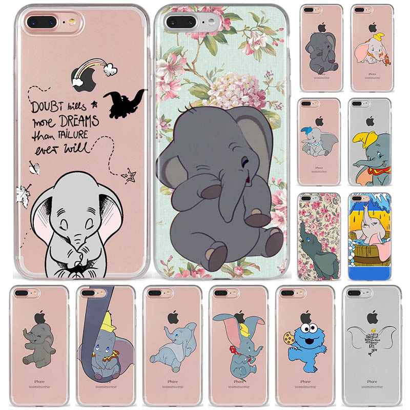 Case For Coque Back-Cover Max-Phone XR Silicone Winnie Pooh Dumbo 6s-Plus 5s Se Animal