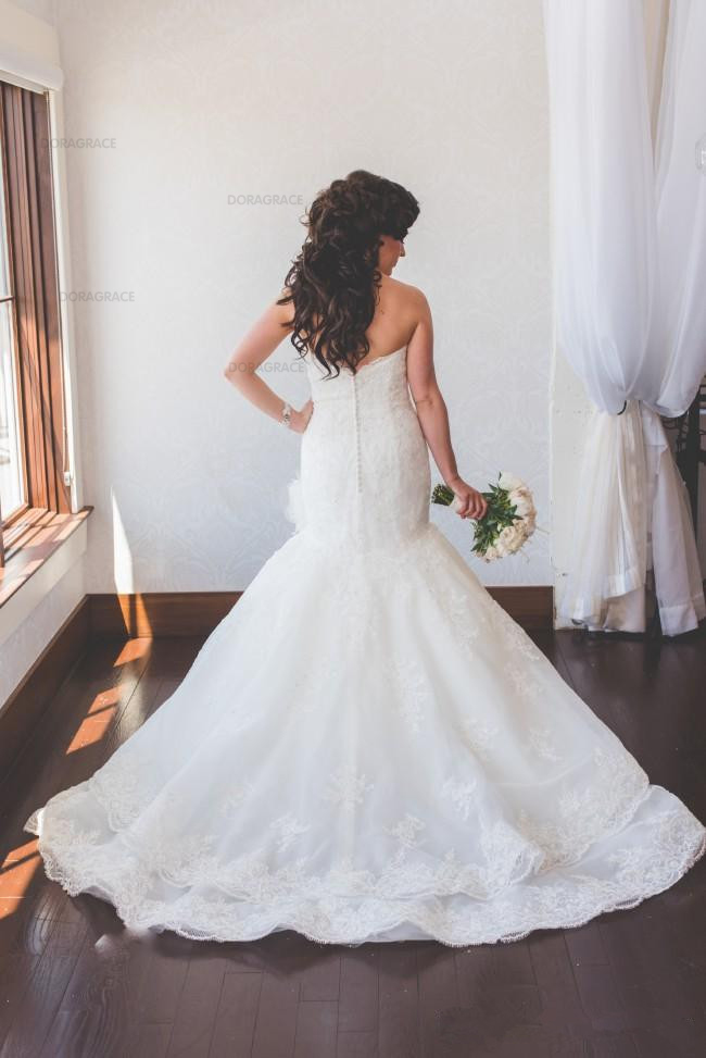 Doragrace vestido de noiva Custom Made Sweetheart Sleeveless Mermaid Wedding Gowns Applique Lace Wedding Dresses in Wedding Dresses from Weddings Events
