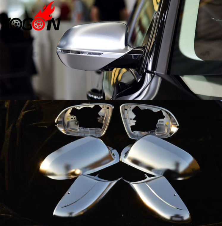 Accessories NEW! 6Pcs Matte Chrome Rear View Mirror Cover Side Mirror For AUDI A8 S8 D4 2011-2017 Car stylingAccessories NEW! 6Pcs Matte Chrome Rear View Mirror Cover Side Mirror For AUDI A8 S8 D4 2011-2017 Car styling