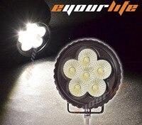 Eyourlife 3.5 Inch 18 w Okrągłe Offroad ATV SUV 4x4 Okrągły Led Work Light Flood Beam Mgła Pracy światło