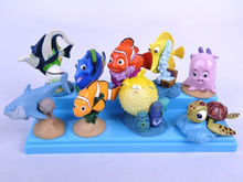 Hot Set of 9Pcs Finding Nemo PVC Figures Cake Topper Toy