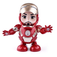 Can Dance Iron Man Marvel Avengers Action Figure Toy Led Flashlight With Light Sound Music Robot Hero Electronic