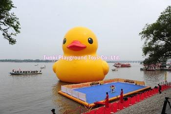 6 metrowa gigantyczna nadmuchiwana kaczka wodna tanie i dobre opinie 8 lat Plac zabaw na świeżym powietrzu yellow duck TKYD