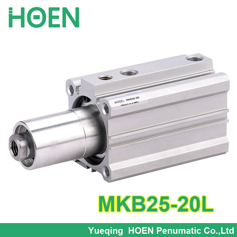 SMC type MKB series Double acting  MKB Series Corner Cylinder MKB25*20L / MKB25-20L high quality double acting pneumatic gripper mhy2 25d smc type 180 degree angular style air cylinder aluminium clamps