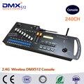 Envío libre de DHL 240 canales 2.4g inalámbrico controlador DMX consola, WiFi inalámbrico DMX controlado, DMX tranciever receptor