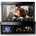 "Nova Chegada 7 ""um Din Autoradio GPS Carro DVD Player Pure Android 4.1 DVR 3G WiFi 1024*600 Microfone Bluetooth USB Mapa livre"