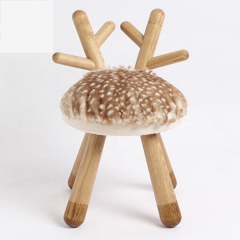 Furniture Nice Creative Solid Wood Stool Ball Stool Removable And Washable Stool Designer Furniture Low Home Fabric Stool