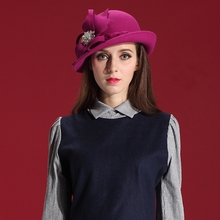 Women Winter Hats Wool Felt Fedora Ladies' Autumn New Dresses 100% Wool Caps & Hats Cheap Price For 1 Set