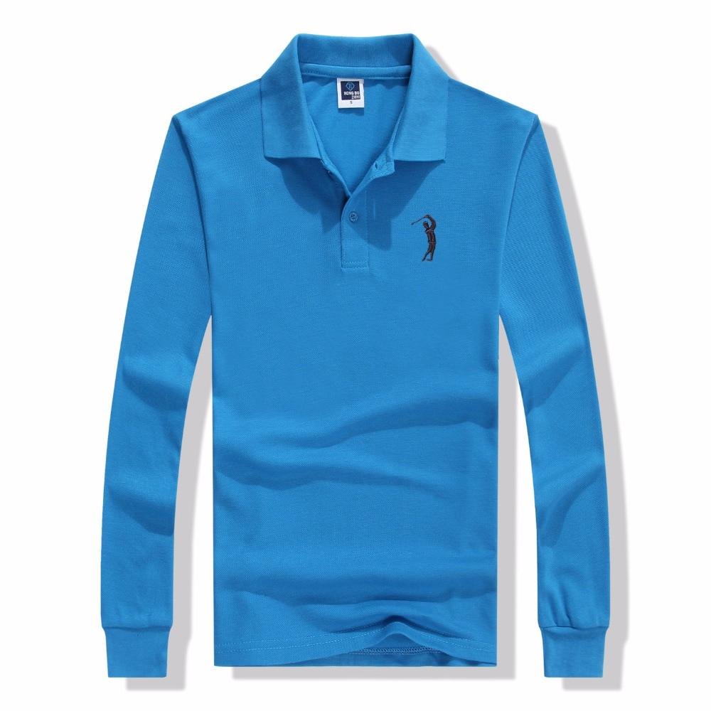 2017 Aleatory Brand Men   Polo   Hombre Shirt Mens Fashion Collar Shirts Long Sleeve Casual Camisetas Masculinas   Polos   Sweatshirt
