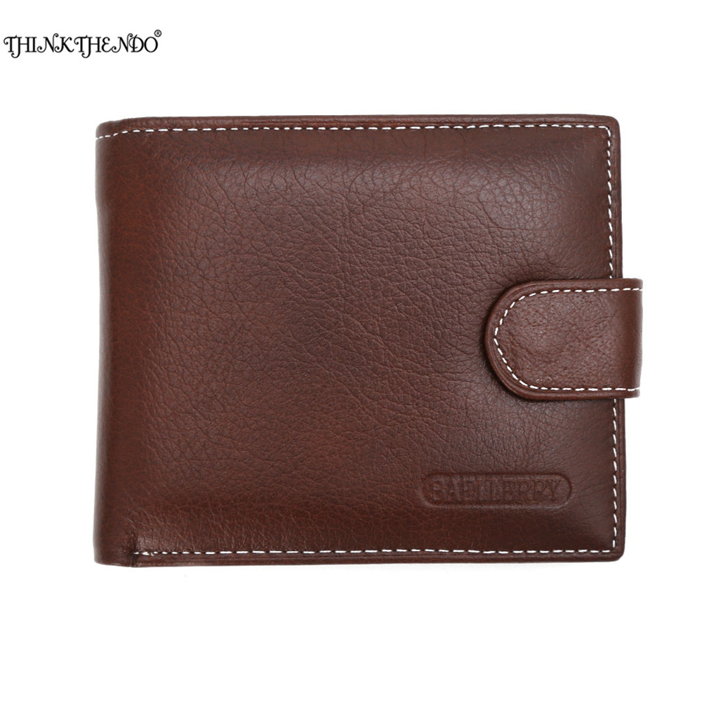 THINKTHENDO Fashion Men Faux Leather ID Credit Card Holder Bifold Coin Purse Wallet Pockets  Black/Coffee/New Coffee japan anime katekyo hitman reborn wallet cosplay men women bifold coin purse