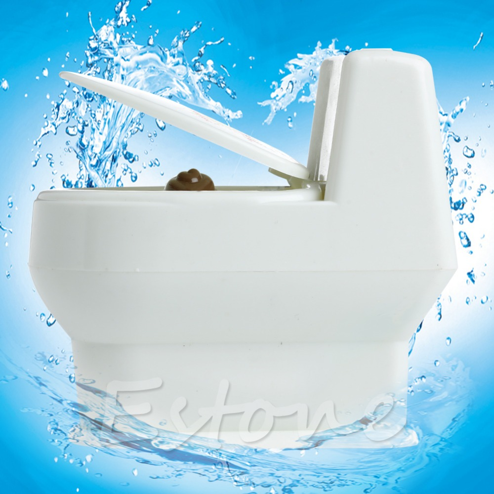 Mini Toilet Bowl Interesting Funny Supernatural Water Gun Toy For Kids Children