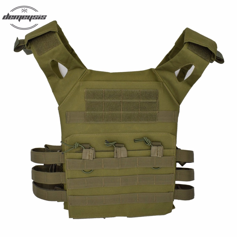 Tactical Vest Military Equipment Tactical Airsoft Vest Paintball Hunting Vests Outdoor CS Combat Assault Plate Carrier Vests camouflage tactical vest mens hunting vest outdoor black training military army swat mesh vests protective equipment