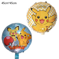 50pcs Pikachu Pokemon 18 Foil Balloons Children Inflatable toys Helium balloons birthday party decorations kids Party Supplies