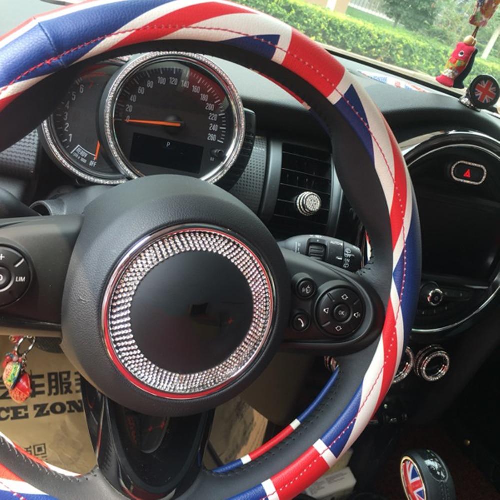 Diamond Crystal Ring Steering Wheel for mini cooper R55 R56 R59 R60 F54 F55 F56