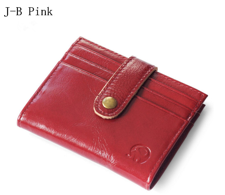 Vintage Genuine Real Leather Women Short Wallets Small Wallet Coin Pocket Credit Card Wallet Female Purses Money Clip