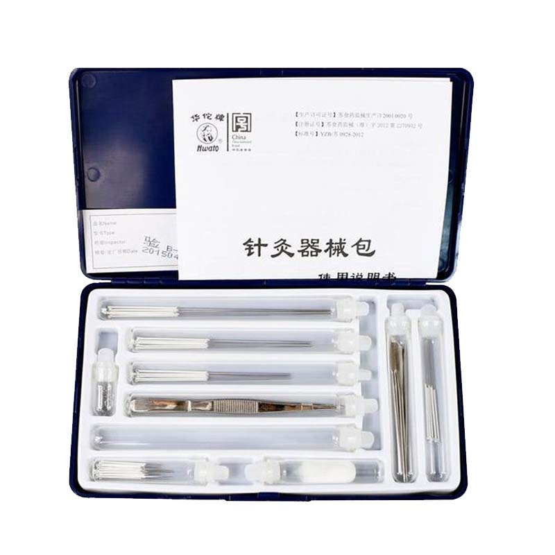 Hua tuo plum needle acupuncture needle acupuncture of traditional Chinese medicine (TCM) package special moxibustion of traditional chinese medicine portable acupuncture box smoke free body care massage