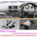 For Mercedes Benz C180 C200 C280 C300 C350 C63 AMG / RCA & Original Screen Compatible Rear View Camera / Back Up Reverse Camera