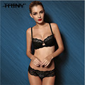 TAINY 2017 New Authentic Sexy Lace Embroidery Diamond Women Seamless Underwear Push Up Bra Brief Sets