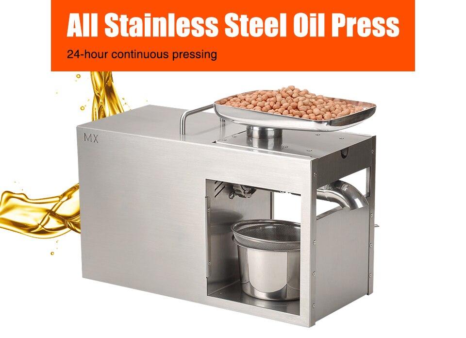 XEOLEO Oil presser Olive Oil press machine Stainless steel Cold and Hot press Oil machine use for Peanut/Walnut/Flax seed 1500W|machine machine|machine for|machine press - title=