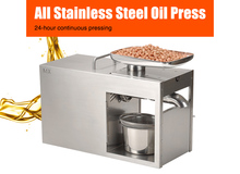 XEOLEO Oil presser Olive Oil press machine Stainless steel Cold and Hot press Oil machine use for Peanut/Walnut/Flax seed 1500W