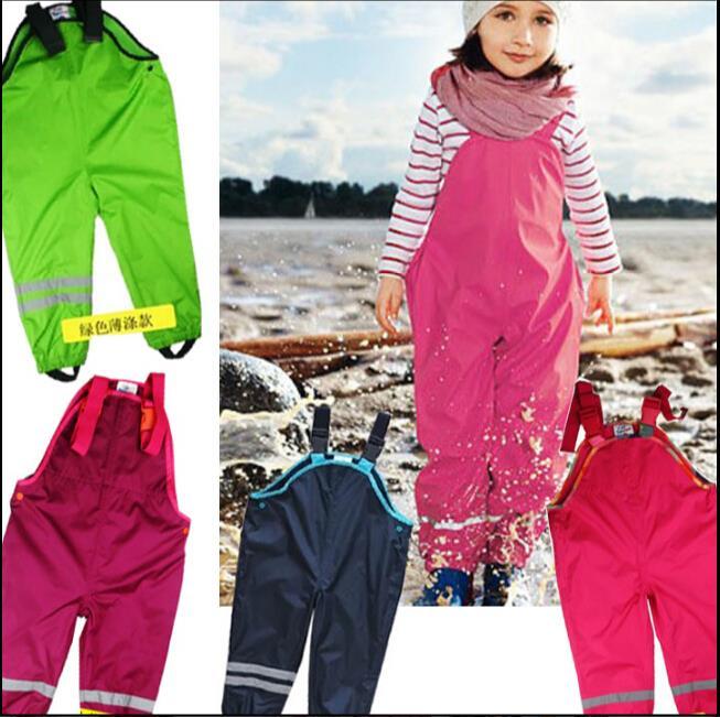 Nuevo 2019 niños a prueba de agua de marca bebé niños niñas pantalones 1-7Yrs niños pantalones de esquí niños niña guardapolvos para niños 520