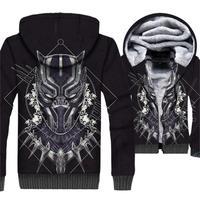 Fashion Streetwear 3D Jackets Men 2018 Autumn Winter Coats Hoodies Black Panther Avengers Superhero Hip Hop Men's Sweatshirts