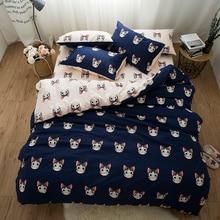 Cute cat  bed linen set kids girls adults king queen twin size Bedding set 100% cotton fabric bed duvet cover set pillow shams