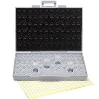 SMT Resistor Storage Box Enclosure 1206 0805 72 Compartments Tweezers 198 Labels