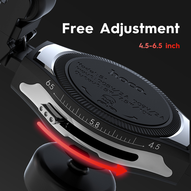 Car Qi Wireless Charger 10W Fast Charging Stand for iPhone X XS XR Samsung S9 Car Roller Mount Mobile Phone Air Vent Holder