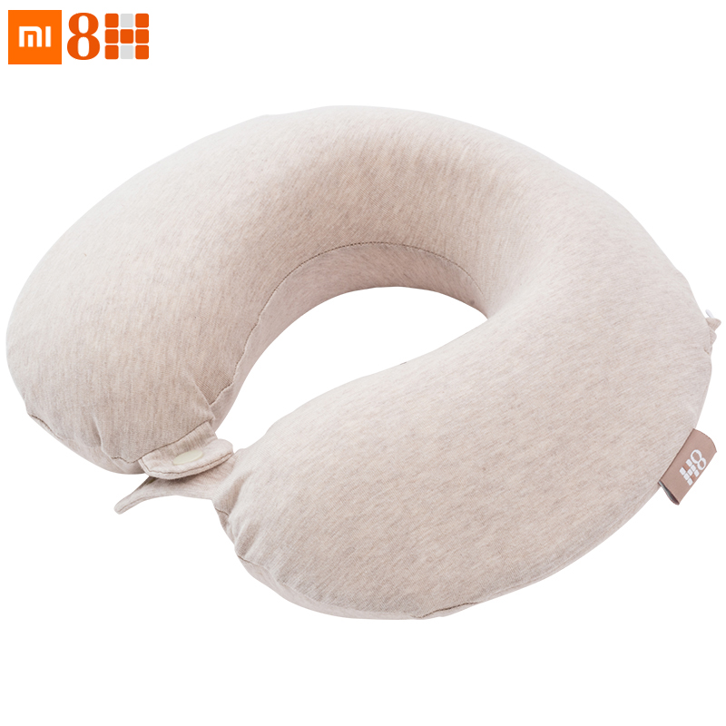 Original Xiaomi Mijia 8H U Shape Memory Foam Neck Pillow Antibacterial Portable Travel 8H Eyes Mask Cushion Lunch Break Pillows