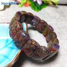 Оптовая продажа, браслеты из натурального камня с пьестерситом, браслет с узором из энергетического камня, ручная роспись, на удачу для женщин и мужчин, подарок, ювелирные изделия с кристаллами на запястье
