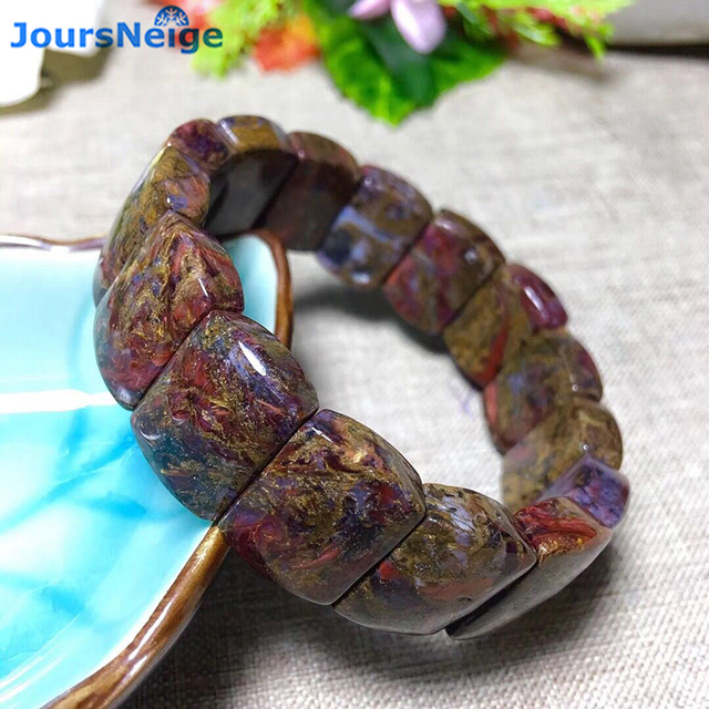 Wholesale Pietersite Stone Natural Stone Bracelets Pattern Energy Stone Hand Row Lucky for Women Men Gift Wrist Crystal Jewelry