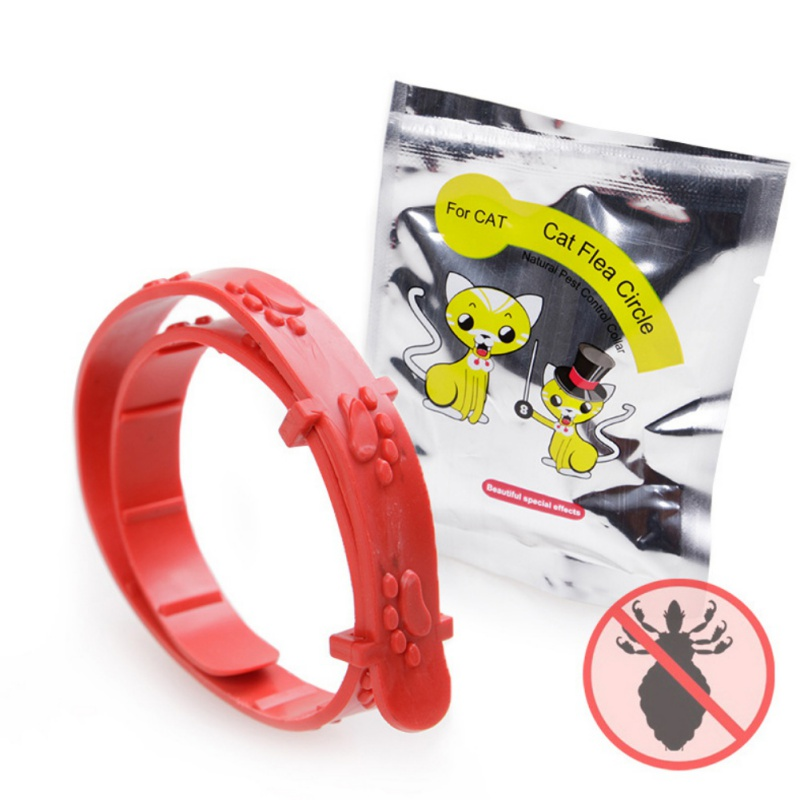 New Adjustable Mite Puce Tique Flea Pet Collar Cat Hond Protection Neck Ring Tick Mite Louse Remedy Coleira Para Collare Gatto ...