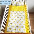 Ins cama cuna 100% de algodón caliente 3 unids baby bedding set incluye funda de almohada + hoja de cama funda nórdica sin llenar bedding set
