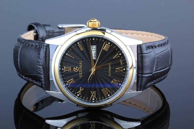 Wristwatch fashion casual GEDIMAI font b military b font Mechanical font b watches b font men