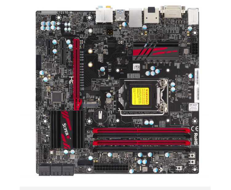 ASUS foundry C7H170-M desktop game motherboard non-K overclocking H170 chip 1151-pin i7 / i5 / i3