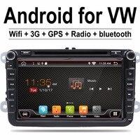 2 Din 8 zoll Quad core Android 7.1 vw auto dvd für Polo Jetta Tiguan passat b6 cc spiegel link wifi Radio CD in dash
