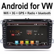 2 Din 8 inch Quad core Android 7.1 vw car dvd for Polo Jetta Tiguan passat b6 cc mirror link wifi Radio CD in dash