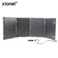 Solar Charger Xionel 40W Solar Panel Charger 5V USB 18V DC Laptop Charger For Phone Laptop