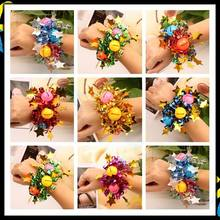 Children Day Festival activity Sport meeting dance kid adult Metal foil hand flower sequin wrist bell bracelet Performance props