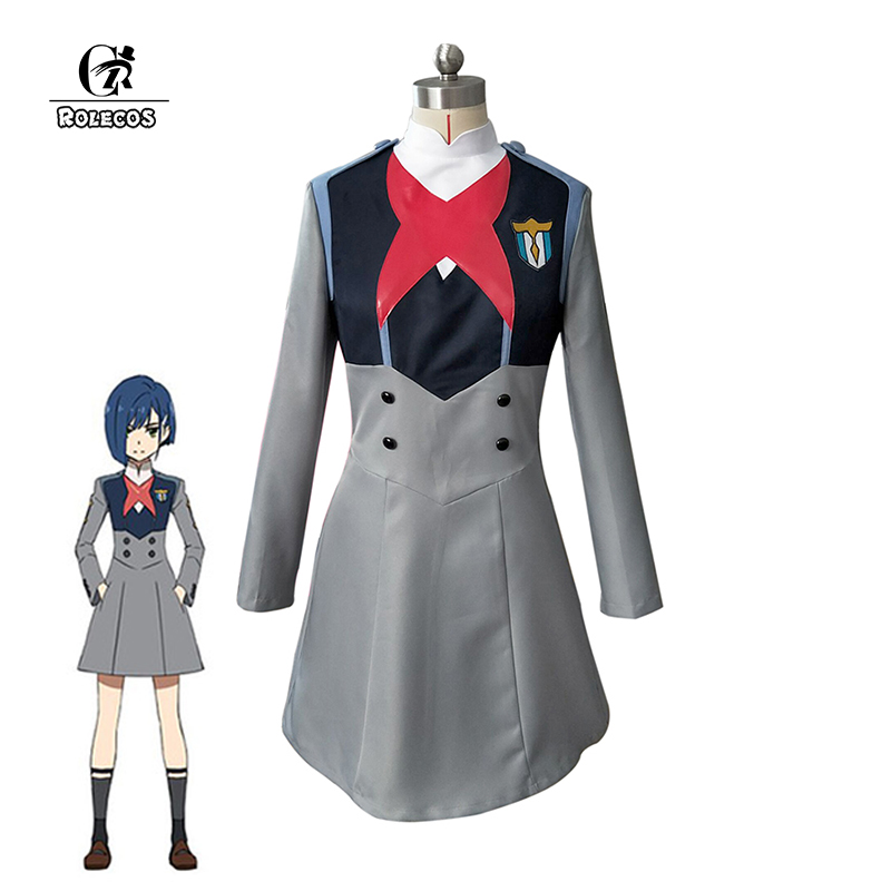 ROLECOS 2018 Japanese Anime DARLING in the FRANXX Cosplay Ichigo 015 Cosplay Women Cosplay Costume Japanese Anime Full Set