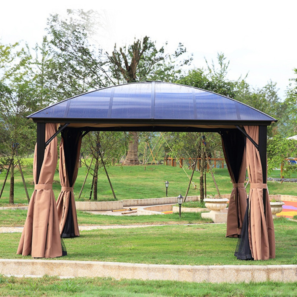 3*3.6 meter PC board high quality durable garden gazebo outdoor tent canopy aluminum sun shade pavilion furniture house high quality outdoor 2 person camping tent double layer aluminum rod ultralight tent with snow skirt oneroad windsnow 2 plus